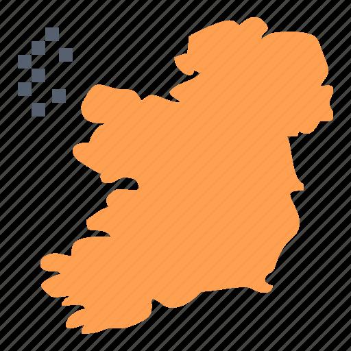 ireland, map, world icon