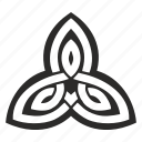 celtic, culture, ireland, irish, leaf, ornament icon