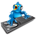 discjockey, dj, music, twitter icon