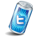 soda can, twitter icon