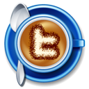 cappucino, coffee, cup, twitter icon
