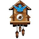 clock, twitter icon
