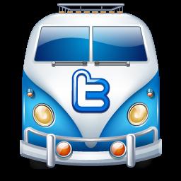 car, twitter, van icon