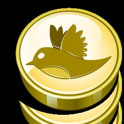 Bird Cash Coin Money Twitter Icon