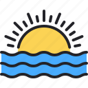 sunset, sun, weather, sunrise, sea