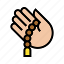 hand, islam, pray, prayer beads, ramadan, religion