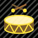 drum, musical instrument, muslim, percussion, ramadan icon