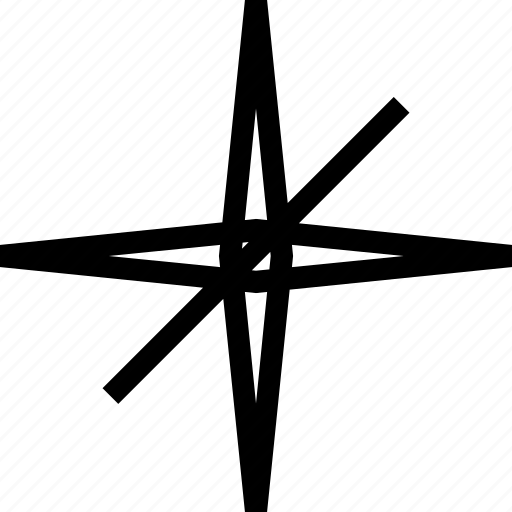 compass, direction, star icon