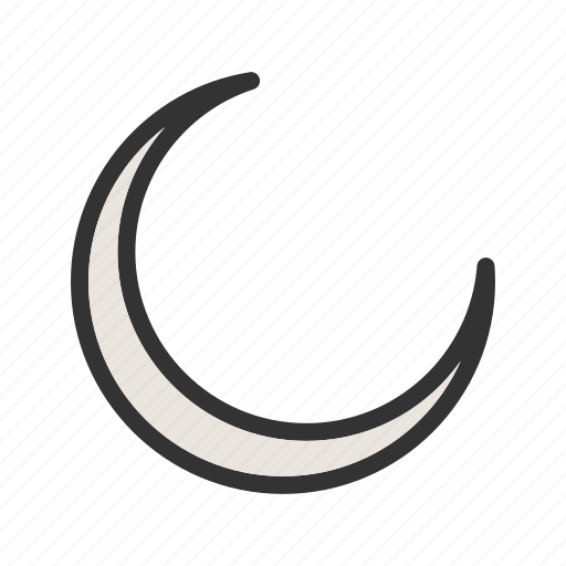 dark, evening, moon, new, night, sky, twilight icon