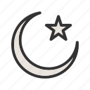 dark, moon, nature, night, sky, space, stars icon