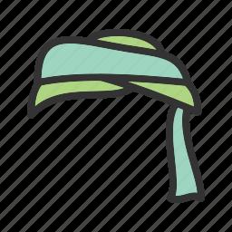 arabian, face, head, male, muslim, style, turban icon