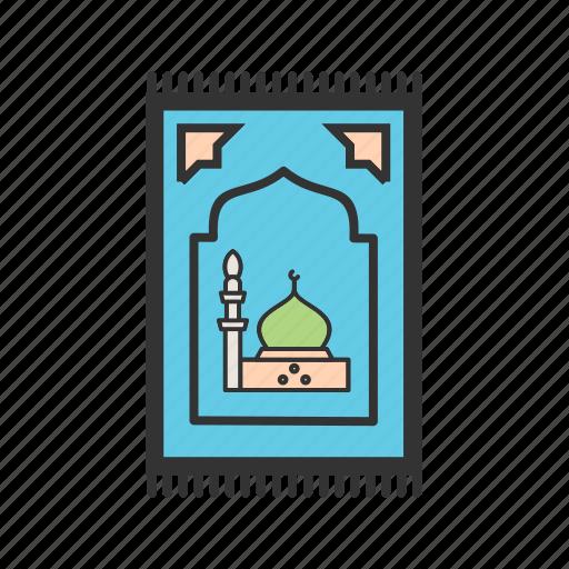 carpet, islam, mat, mosque, muslim, prayer, rug icon