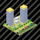skyscraper, building, house, home, estate