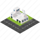 buildings, city, factory, industry, isometric, plant, urban