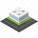 buildings, city, isometric, real estate, supermarket, urban