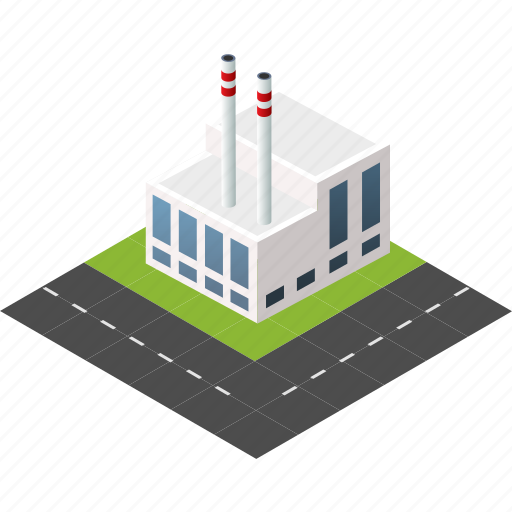 buildings, city, factory, industry, isometric, plant, urban icon