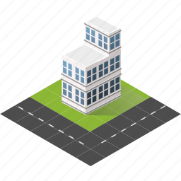 buildings, city, isometric, real estate, urban icon