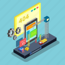 website, isometric, service, online, access, maintenance, internet