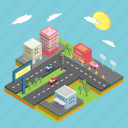 business, city, cityscape, industry, infrastructure, isometric, metropolis