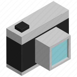 camera, electronics, image, old, photograph, snap icon