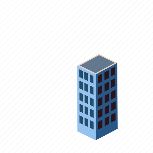 architecture, building, city, factory, industry, isometric, urban icon