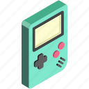isometric, play, gameboy, game, toys