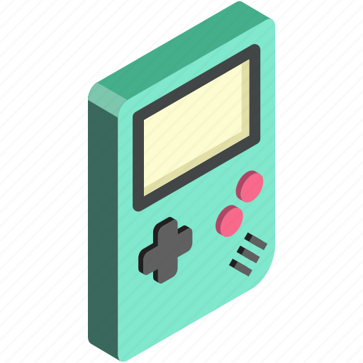 game, gameboy, isometric, play, toys icon