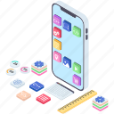 app design, app development, programming, software development, user interface icon