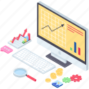 data analytics, finance monitoring, seo analytics, web analytics, web traffic, website ranking icon