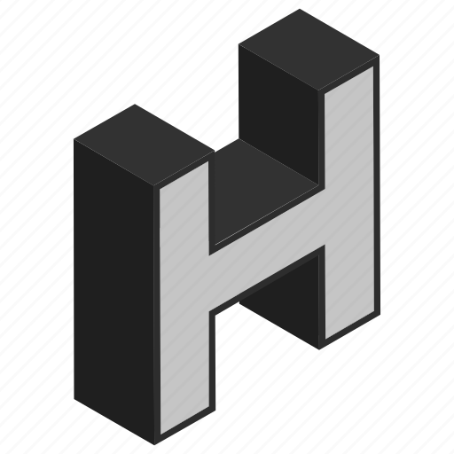 alphabet, character, h, letter, sign icon