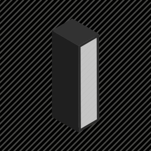 alphabet, character, i, letter, pillar icon