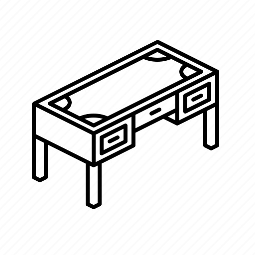 Desk, furniture, secretary, table icon - Download on Iconfinder