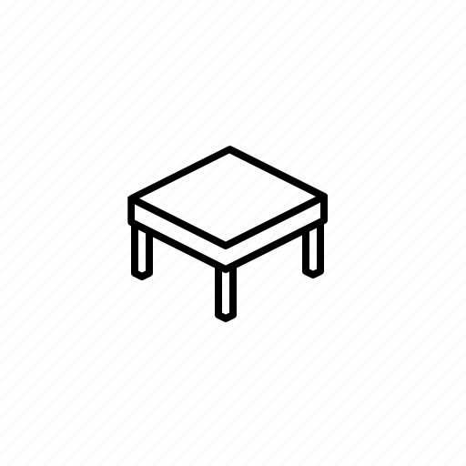 Coffee table, furniture, low table, table icon - Download on Iconfinder