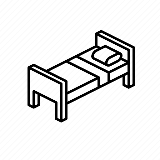 bed, couch, furniture icon