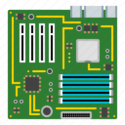 component, computer, device, hardware, motherboard, socket, technology icon