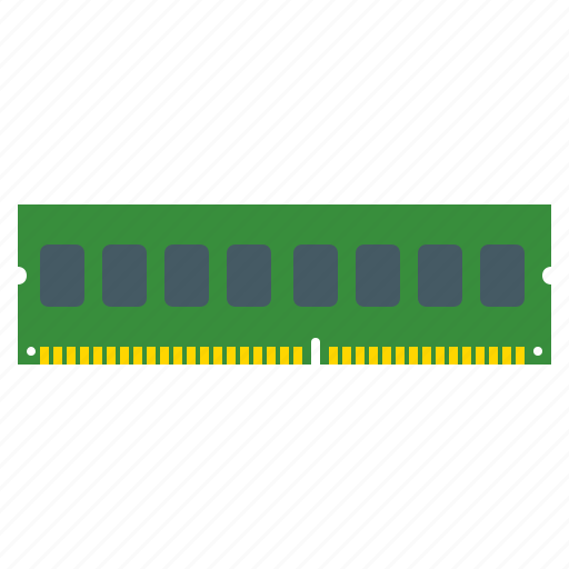 component, computer ram, hardware, memory, ram, storage icon
