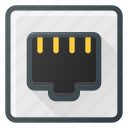 ethernet, network, plug, port icon
