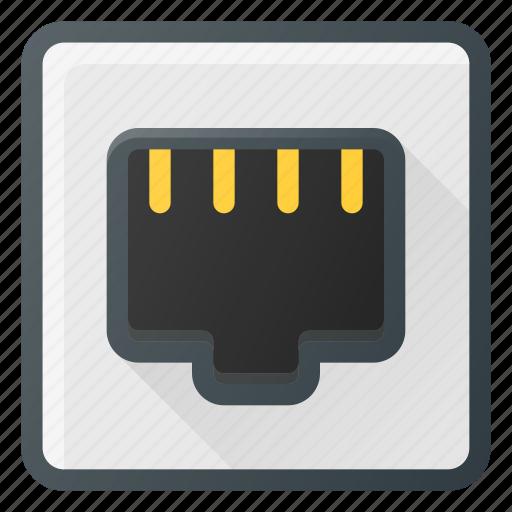 ethernet, network, plug, port icon