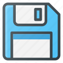 disc, floppy, memory, save icon