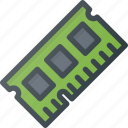 chip, memory, microchip, ram icon