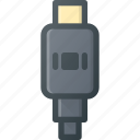 cable, display, mini, plug, port icon