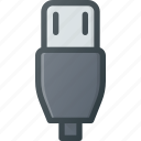 c, cable, micro, mini, plug, usb icon