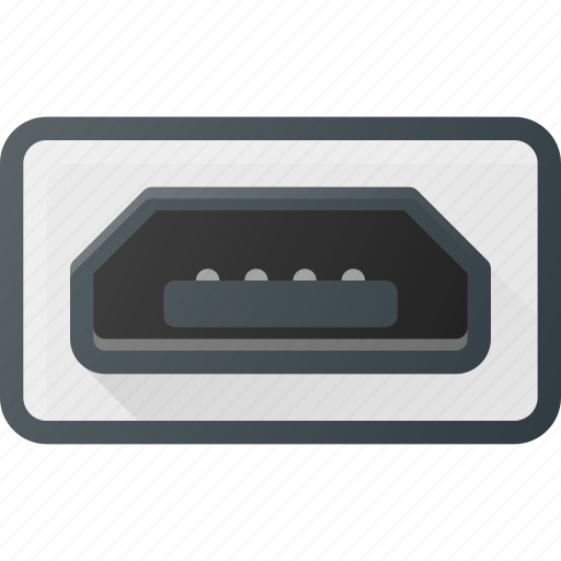 micro, mini, plug, port, usb icon