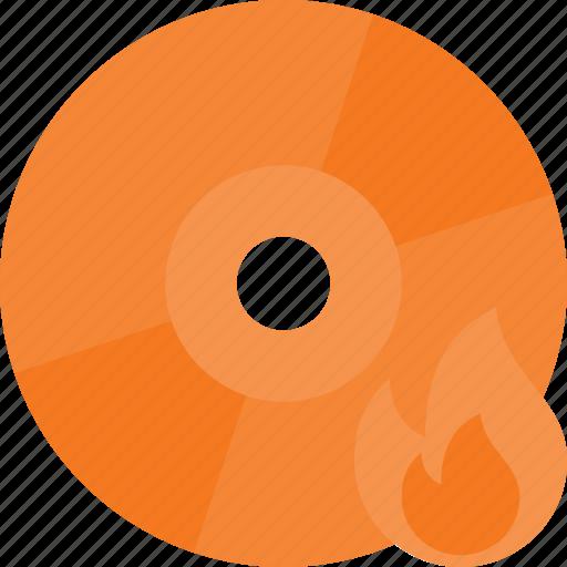 burn, cd, compact, data, disc, write icon