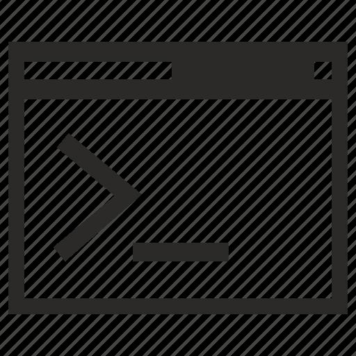 command, input, operation, program icon