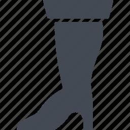boot, bootleg, heel, italy icon