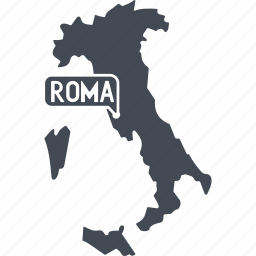 country, europe, italy, rome icon