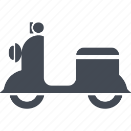 italy, motorcycle, scooter, transport icon