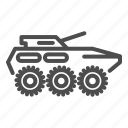 armored, vehicle, tank, offroad, military icon