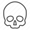 skull, human, skeleton, person, head